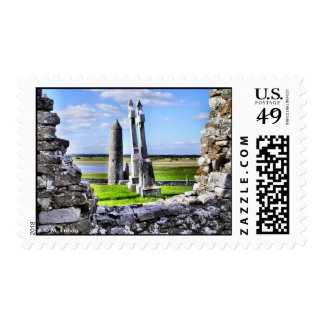 Franqueo de la torre de Clonmacnoise Sello Postal