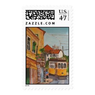 franqueo de la tranvía sellos