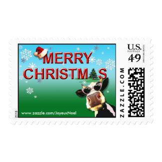 Franqueo de la vaca del navidad de Mooootiful Sello
