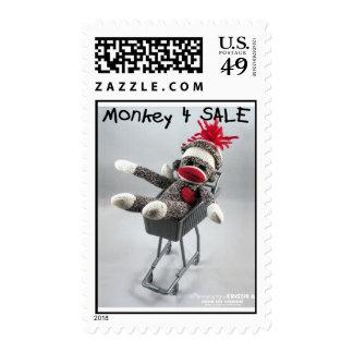 Franqueo de la venta del mono 4 (por el kolohe Kri Estampillas