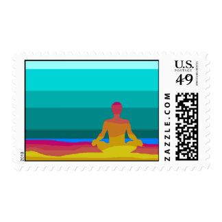 Franqueo de la yoga sellos postales