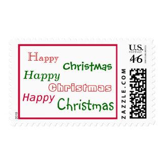 Franqueo de las felices Navidad