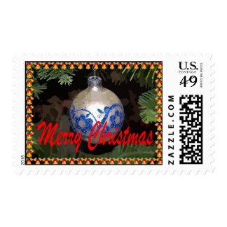 Franqueo de las Felices Navidad del ornamento