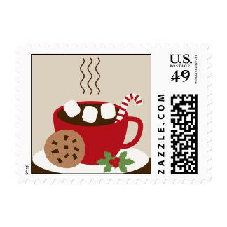Franqueo de las galletas y del navidad del cacao sellos