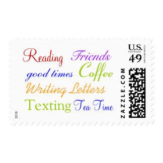 Franqueo de las mañanas del café sello postal
