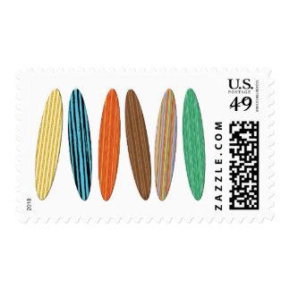 Franqueo de las tablas hawaianas sello postal
