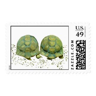 Franqueo de las tortugas del dibujo animado