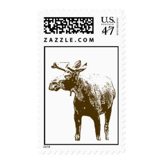 Franqueo de los alces de Bull Sellos