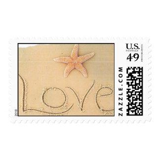 Franqueo de los amantes de la playa sello postal