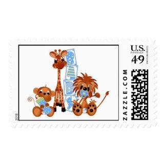 Franqueo de los bebés de la selva toda la ocasión sellos postales