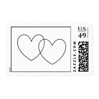"""Franqueo de los """"corazones que entrelazan"""" timbres postales"""