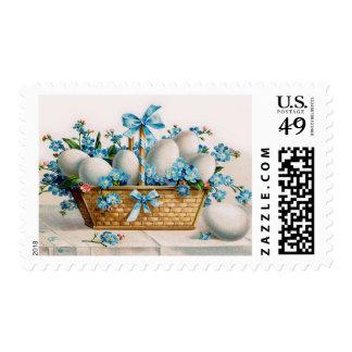Franqueo de los huevos de Pascua del Victorian Timbre Postal