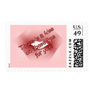 Franqueo de los labios de Kissy Sello Postal