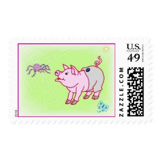 Franqueo de los mejores amigos sello postal