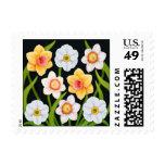 Franqueo de los narcisos de la primavera timbre postal