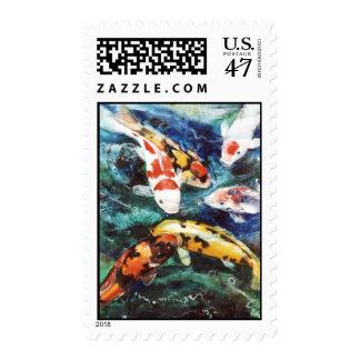 Franqueo de los pescados de PMACarlson Koi Sello Postal