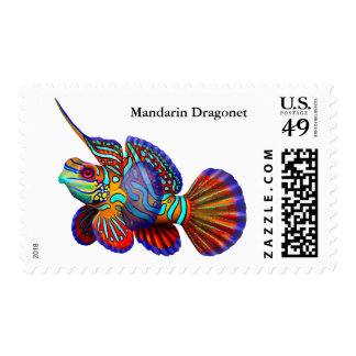 Franqueo de los pescados del gobio de Dragonet del Timbres Postales