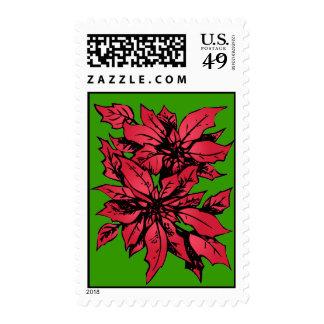 franqueo de los poinsettias sellos
