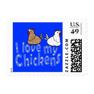 Franqueo de los pollos del amor sello