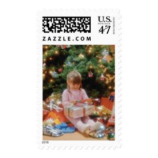 Franqueo de los regalos de la abertura del árbol timbres postales