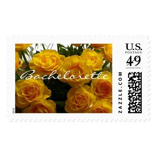 Franqueo de los rosas amarillos de Bachelorette