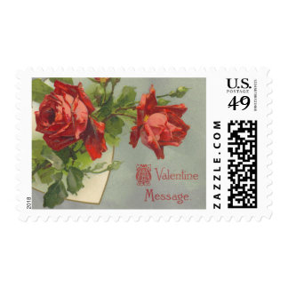 Franqueo de los rosas de la tarjeta del día de San