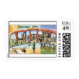 Franqueo de los saludos de Arizona de la postal de