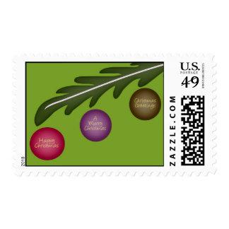 Franqueo de los saludos del navidad timbres postales