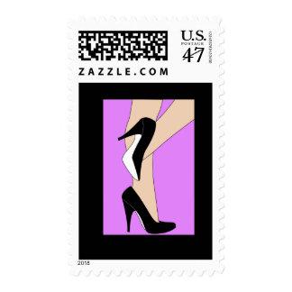 Franqueo de los talones timbre postal