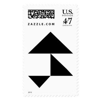 Franqueo de los triángulos timbre postal