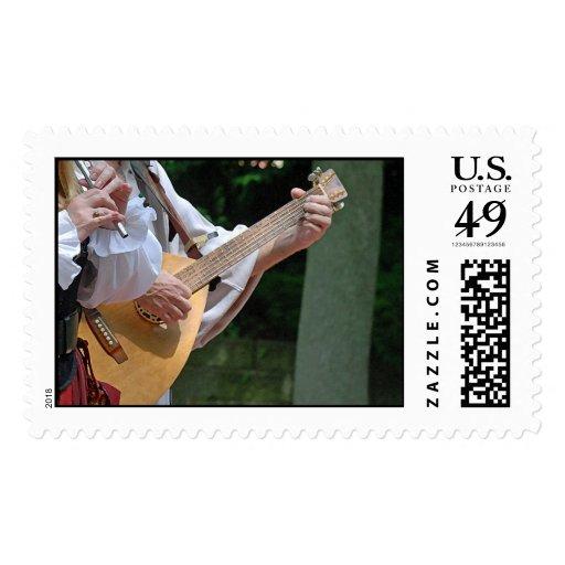 Franqueo de los trovadores timbres postales