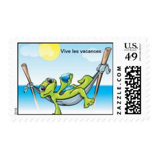 Franqueo de los vacances de los les de Vive Timbre Postal