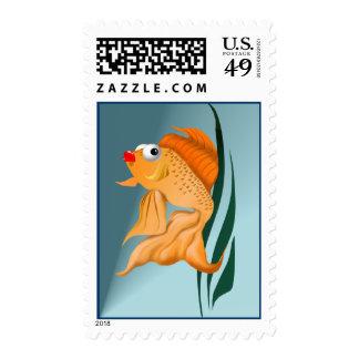 Franqueo de lujo de los pescados del oro