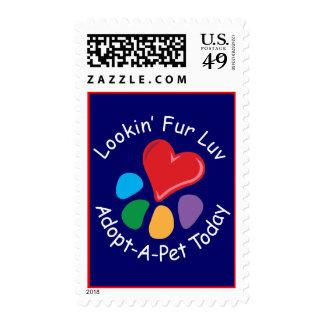 Franqueo de Luv de la piel de Adoption_Heart-Paw_L