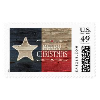 Franqueo de madera apenado del navidad de la sellos