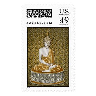 Franqueo de oro de Buda