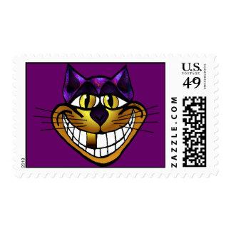 Franqueo de oro del gato de Cheshire