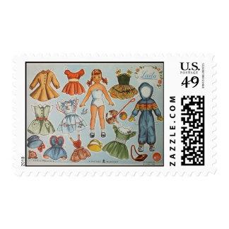 Franqueo de papel de la muñeca timbres postales