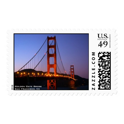 Franqueo de puente Golden Gate Estampilla