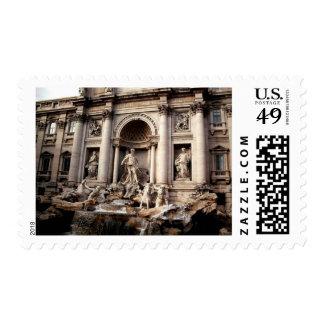 Franqueo de Roma Italia de la fuente del Trevi Estampillas
