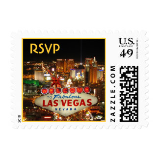 Franqueo de RSVP de la tira de Las Vegas