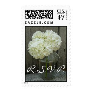 Franqueo de RSVP del boda - Hydrangeas en un tarro Estampilla