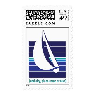Franqueo de Square_template de los azules del Sello Postal