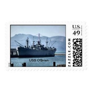 Franqueo de USS O'Brien Estampillas