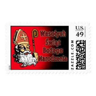 Franqueo de Wesolych Swiat Bozego Narodzenia Sello Postal