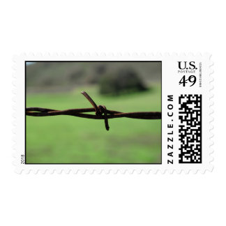 Franqueo del alambre de púas timbres postales