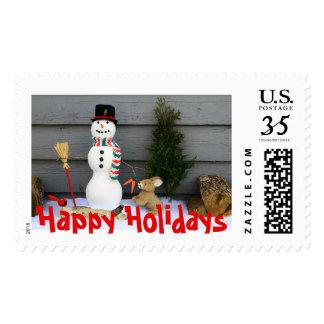 Franqueo del alcohol del navidad timbre postal