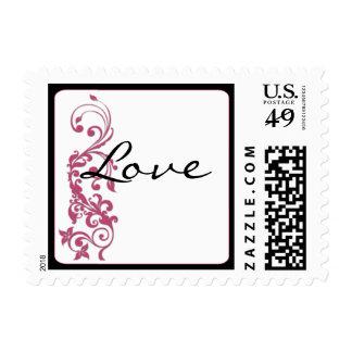 Franqueo del amor de la esquina redondeada del sellos postales