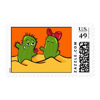 franqueo del amor de la flor del cactus