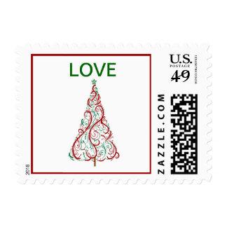 Franqueo del amor del árbol de navidad